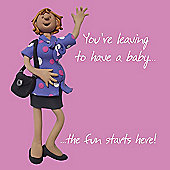 Holy Mackerel Maternity Leave, The Fun Starts Here Greetings Card