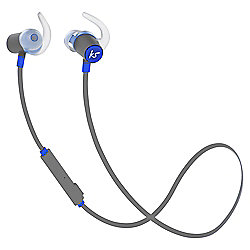 KitSound Outrun Water-Resistant Bluetooth Wireless Sports In-Ear Headphones - Blue