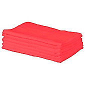 Cuddles Collection Pack of 6 Muslin Squares (Red)