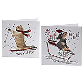 Snow What Fun Cards 10pk