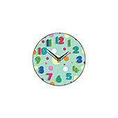 Smith & Taylor Spotty Mint Wall Clock