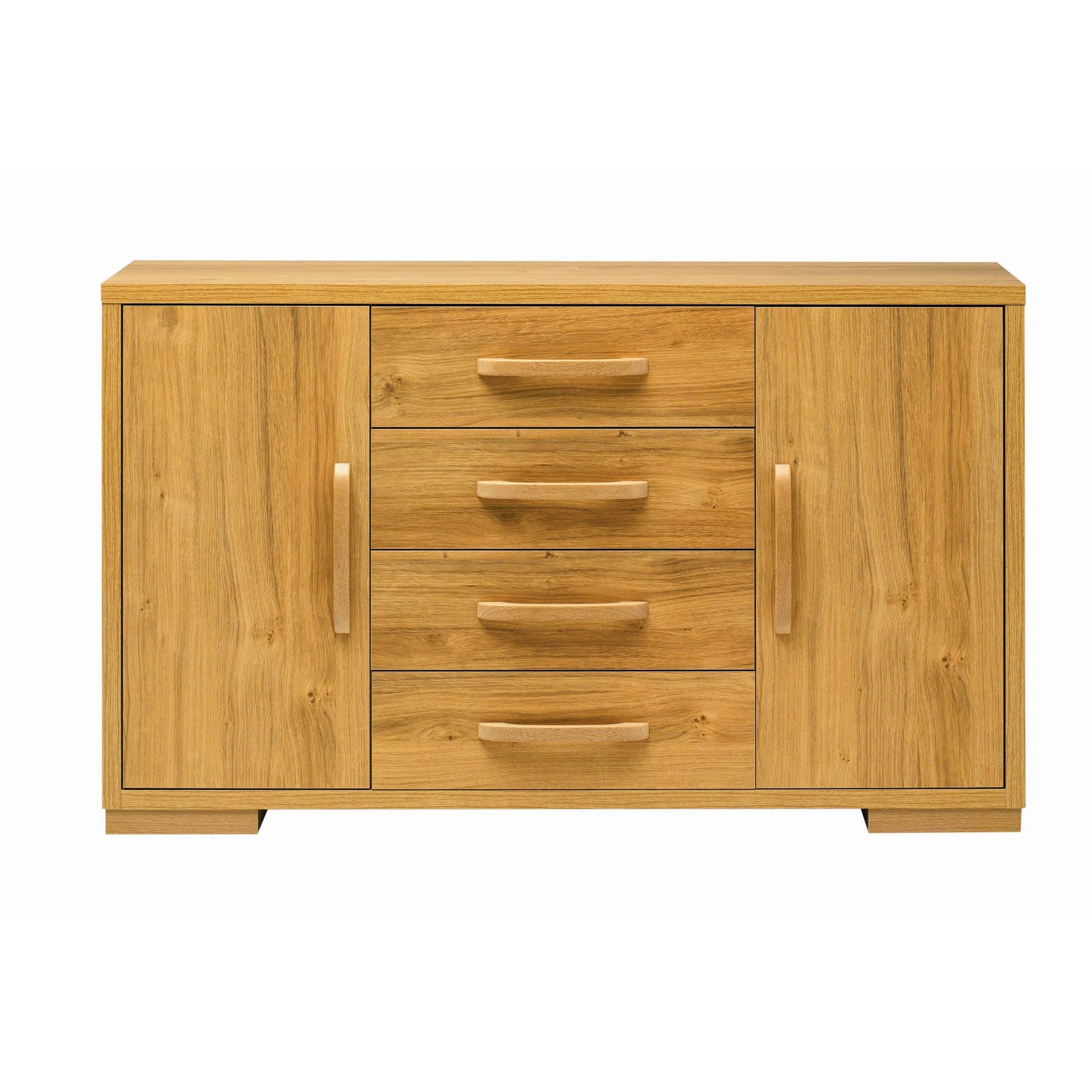 Caxton Strand High Sideboard in Oak at Tesco Direct