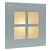 Firstlight Wall and Step Flush Light in Satin Steel