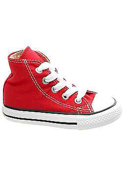 Converse All Star Hi Red Toddler Shoe 7J232 - Red