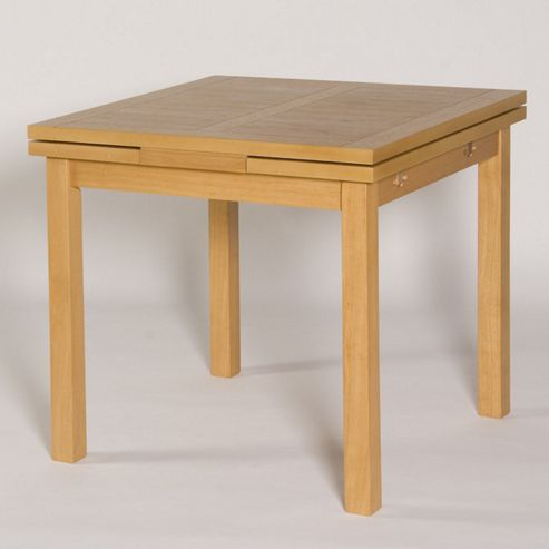 G&P Furniture Somerset Square Extending Draw Leaf Dining Table