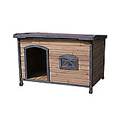 Up and About Flat Roof Wooden Dog Kennel - Extra Large - Brown