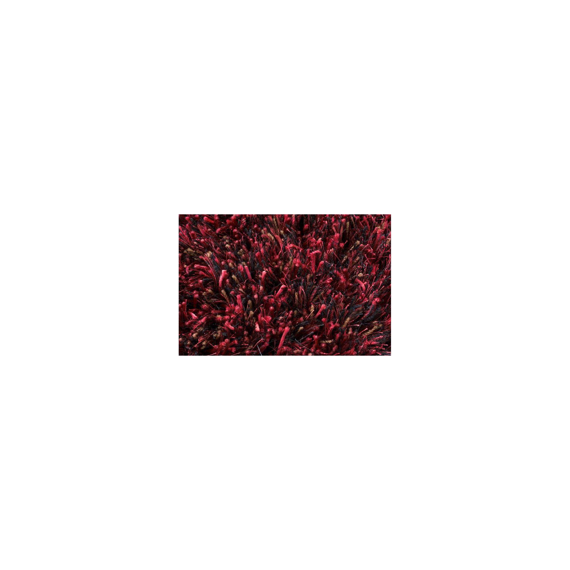 Linie Design Ronaldo Dark Red Shag Rug - Round 150cm at Tesco Direct