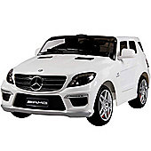 Licensed Mercedes ML63 AMG 12v Kids Electric Jeep - White