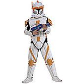 Child Clone Wars DLX Clone Trooper Commander Cody Small