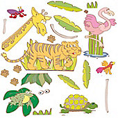 Jungle Safari Bedroom, 44 Wall Decals