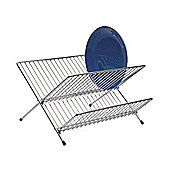 KitchenCraft Large Fold Away Dish Drainer in Chrome - Medium