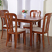 G&P Furniture Windsor House Newark 5 Piece Flip Top Dining Collection