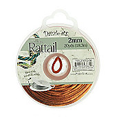 Rattail with Re-Useable Bobbin - Copper - 20yds