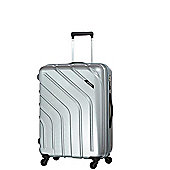 Carlton Stellar 4-Wheel Hard Shell Silver Medium Suitcase