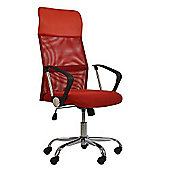Como Red Mesh Office Chair