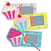 Cool Cupcakes Magic Drawing Slates (Pack of 6)