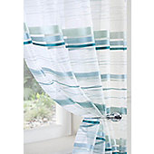 Metropole Voile Curtain Panel - Teal