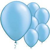 Azure Blue Balloons - 11' Pearl Latex Balloon (100pk)