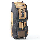 Boom Boom Huge Travel Cricket Wheelie Bag Double Wheeled Black And Gold