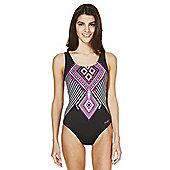 Zoggs Swimshapes Kaleidoscope Print Swimsuit - Multi