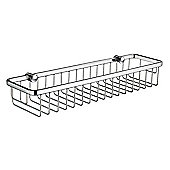 Smedbo Sideline Straight 1 Level Soap Basket in Polished Chrome