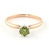 QP Jewellers 0.50ct Green Diamond Crown Solitaire Ring in 14K Rose Gold