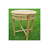 Livingstone Terrasso Betawi Garden Round Teak Bistro Table - 78 cm H x 120 cm W x 120 cm L