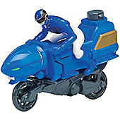 Power Rangers Megaforce Zord Cycle with Blue Ranger