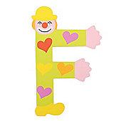 Tatiri Crazy Clown Letter F ((Green) Hearts)