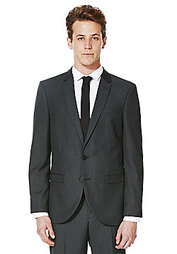 F&F Grey Slim Fit Suit Jacket - Grey