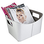 Silver Magazine Rack With Handles