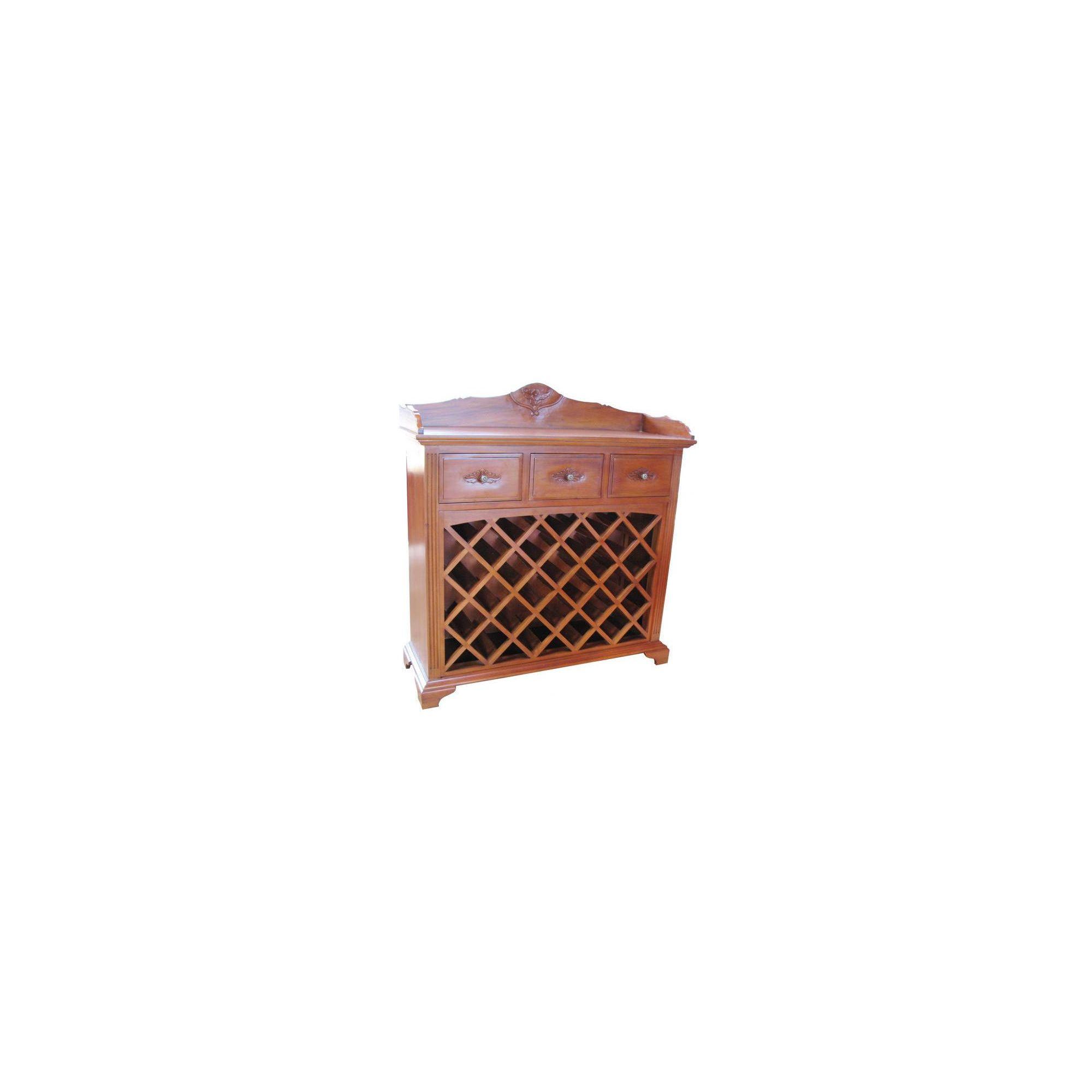 Lock stock and barrel Mahogany 3 Drawer Wine Rack in Mahogany at Tesco Direct