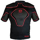 Optimum Origin Rugby Body Protection Shoulder Pads - Black / Red - Black