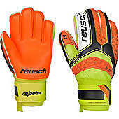 Reusch Re:Pulse Prime S1 Finger Support Junior Goalkeeper Gloves - Black