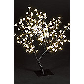Snowtime Cherry Blossom Tree - Warm White - 67 cm H