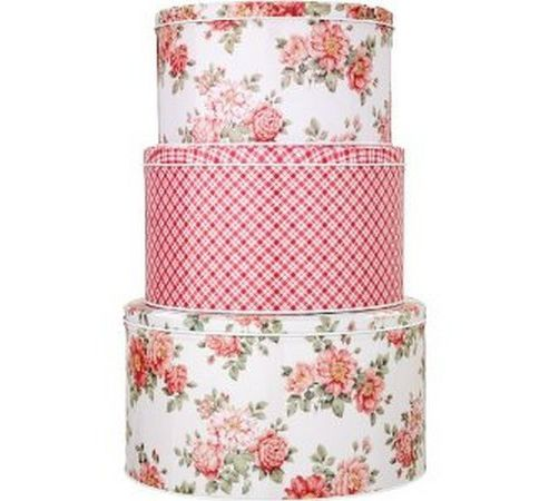 Set of 3 Cassandra Rose Cake Tins