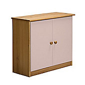 Verona Mid-Sleeper Cupboard Colour Antique and Pink
