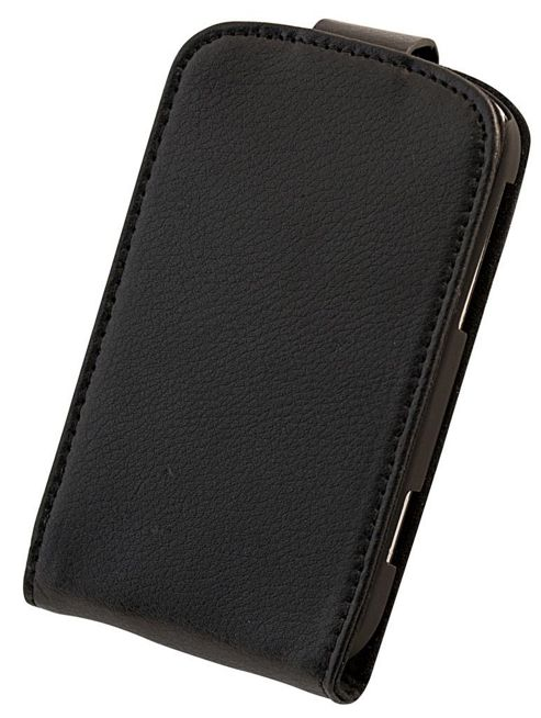 "Tortoise™ Genuine Leather Flip Case BlackBerry® Curveâ""¢ 9320 Black"