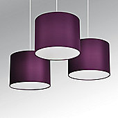 Torbery Set of Three Ceiling Pendant Light Shades in Purple