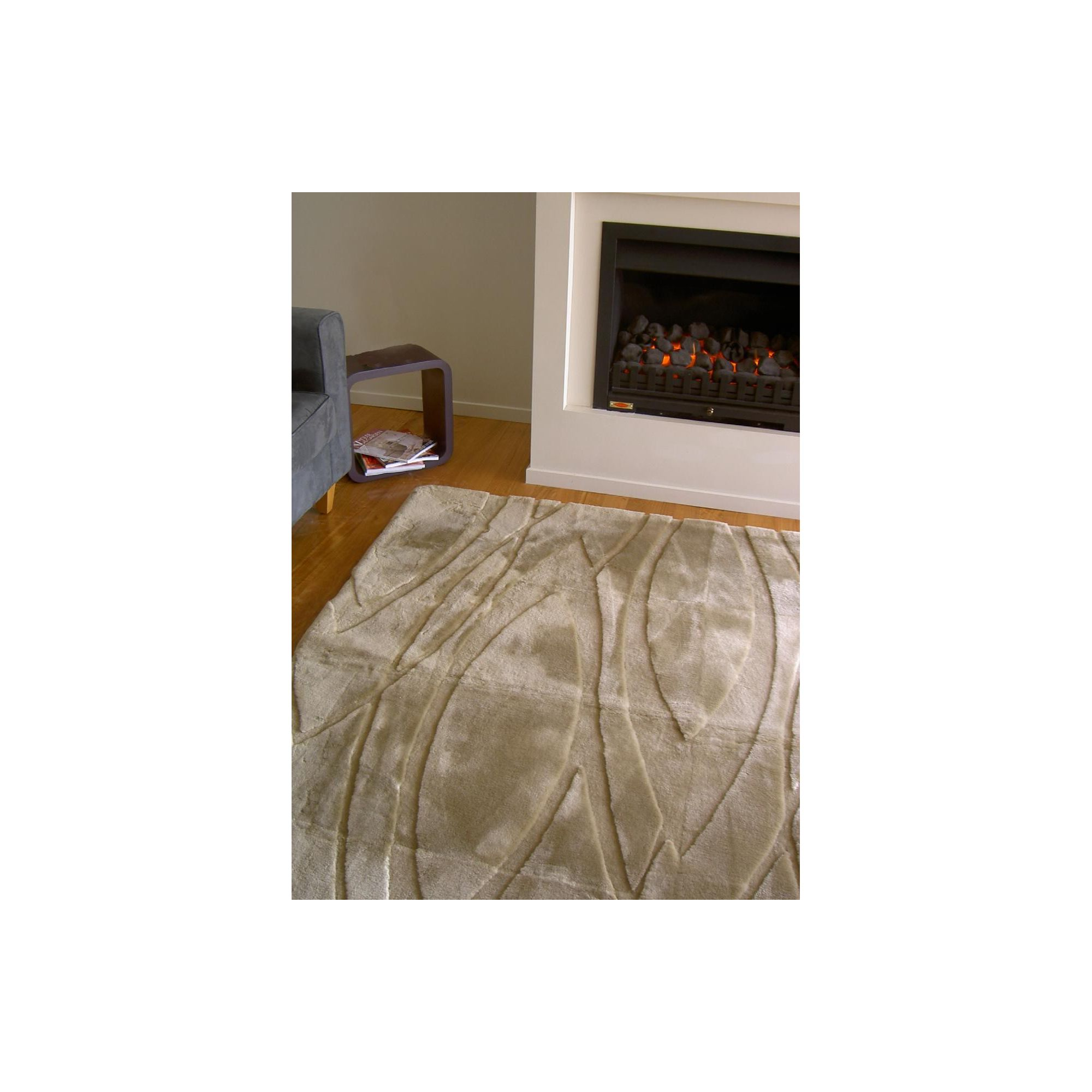 Bowron Sheepskin Shortwool Design Curves Rug - 240cm H x 170cm W x 1cm D at Tesco Direct