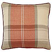 Orange Check Cushion