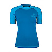 Rash Vest UV Protection Womens Swimming Diving Surfing Top - Blue