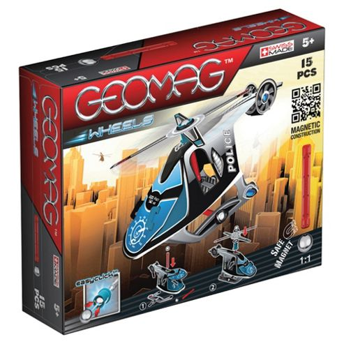 Geomag Wheels Police Helicopter Set