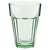 Tesco Single Soda Glass, Pastel Green
