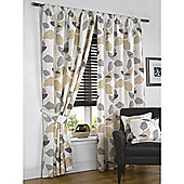 Tropica Lined Pencil Pleat Natural Curtains - 90x54 Inches