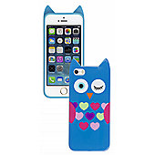 Trendz iPhone 5 and iPhone 5S Blue Owl Character Case