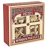 Brainbusting Puzzles Set of Four Wooden Puzzles