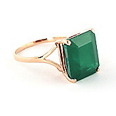 QP Jewellers 5.50ct Emerald Auroral Ring in 14K Rose Gold