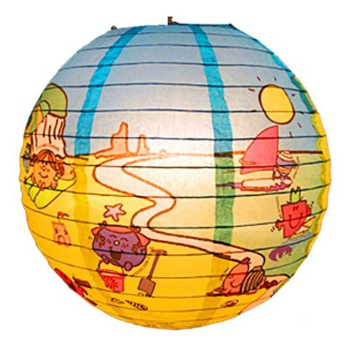 Loxton Lighting Mr. Men Seaside Paper Lantern