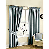 Ribeiro Chenille Pencil Pleat Curtains - Duck egg